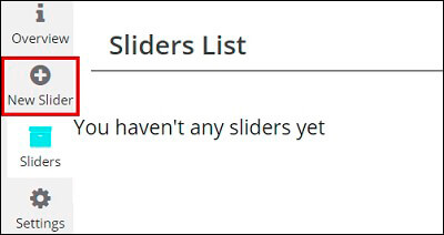 Add New WordPress Slider