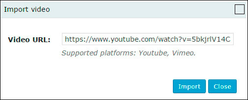 Import video to WordPress Slider