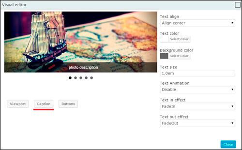 Visual Editor WordPress Slider