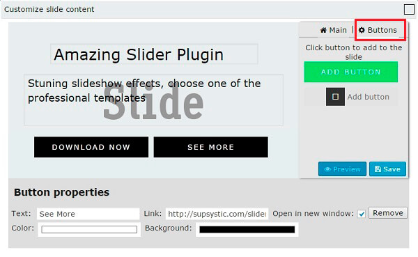 Editor Buttons WordPress Slider Plugin