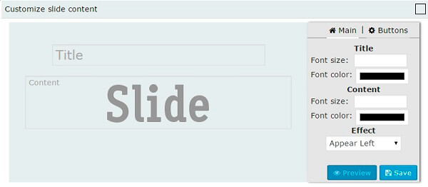 WordPress HTML Slider