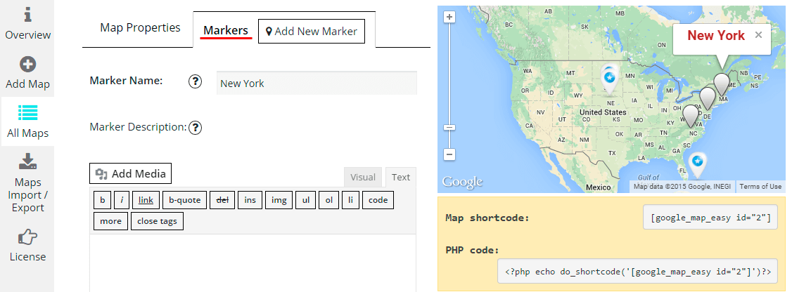 How to Create Linked Markers Map? - Google Maps Easy by Supsystic