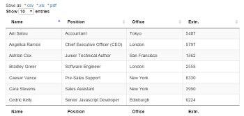 Wordpress Data Table - Export & Import