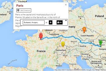 WordPress Google Maps - Get Direction Button