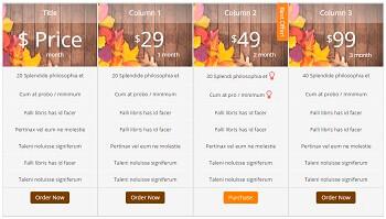 Coxa Price Table