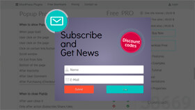 Subscribe and Discount WordPress Popup