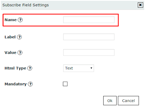 name key parameter of popup field in WordPress Popup plugin