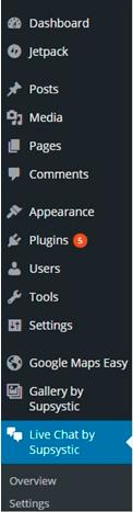 Live chat in WordPress admin panel