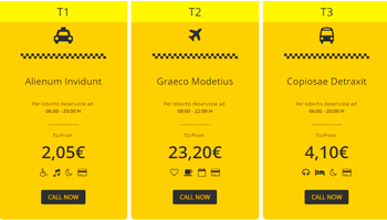 Taxi Price Table