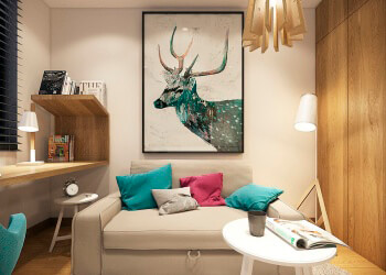 colorful-small-home-office-design