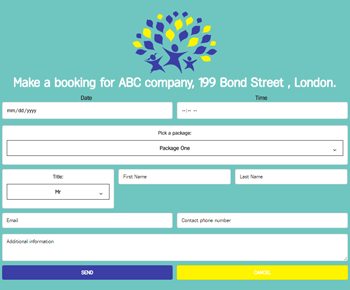 Booking Form - Contact Form by Supsystic