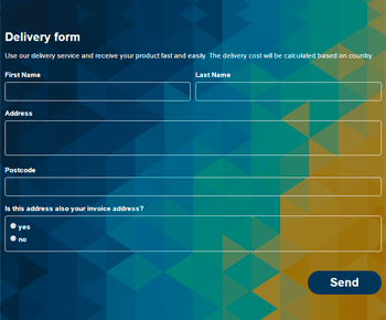 Delivery Form - Contact Form by Supsystic