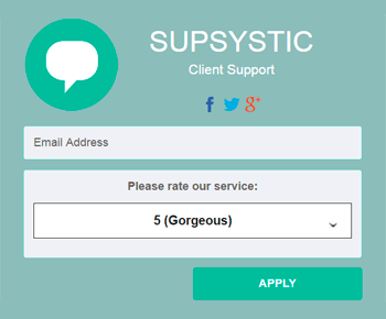 Feedback Form - Contact Form by Supsystic