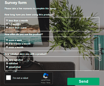 Survey Form - Contact Form by Supsystic