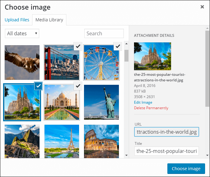 WordPress Media Library in Photo Gallery plugin