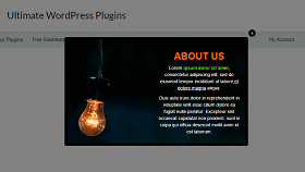 html popup template
