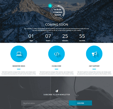 WordPress Coming Soon - Aruana Template
