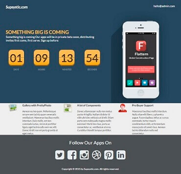 WordPress Coming Soon - Flattern Template
