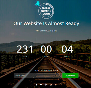 WordPress Coming Soon - InTime Template