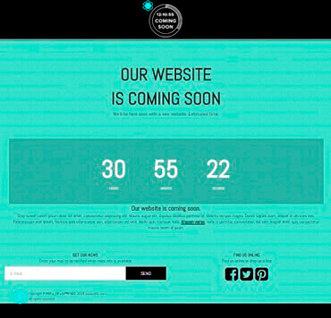 WordPress Coming Soon - Mercury Template