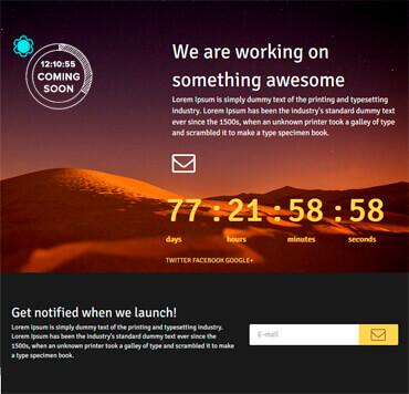 WordPress Coming Soon - Sonoran Template