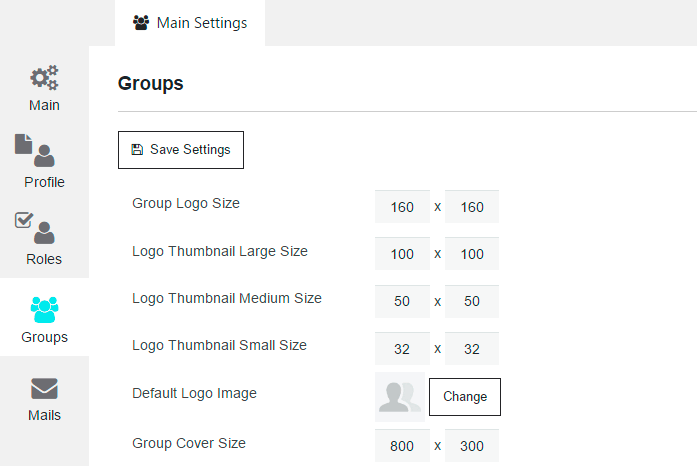 Membership Groups Settings