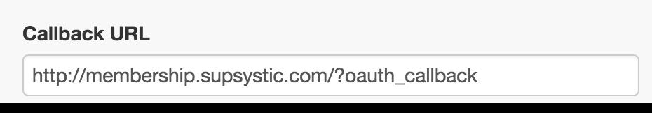 Callback URL in Twitter for Membership plugin