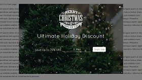 Holiday Discount Popup