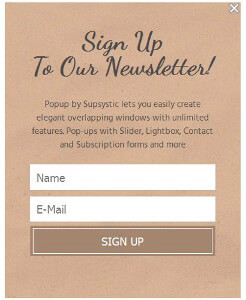 Sign-up Classic Popup Template