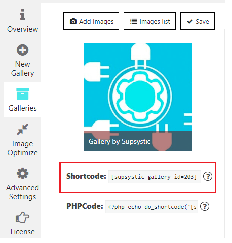 Adding Gallery into site content