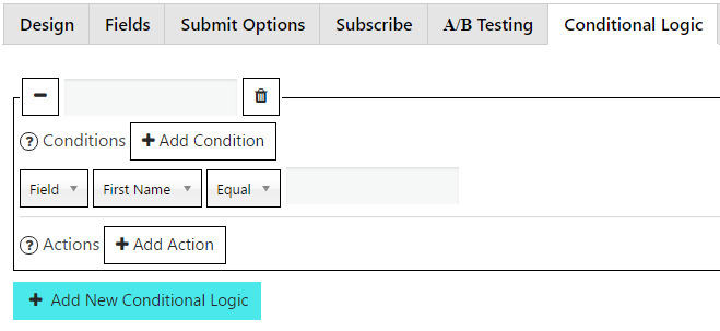 Conditional Logic Tab