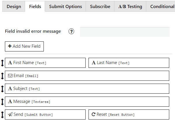 Fields Settings Tab