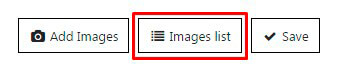 Images list button in WordPress Gallery plugin