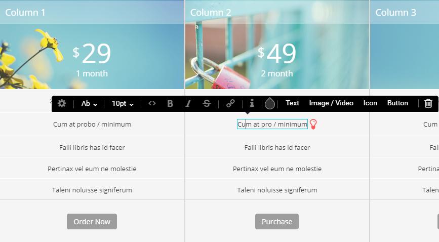 Item Editor menu