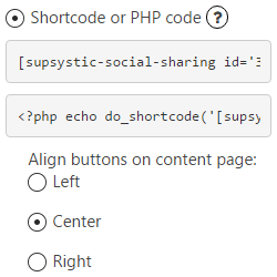PHP Buttons