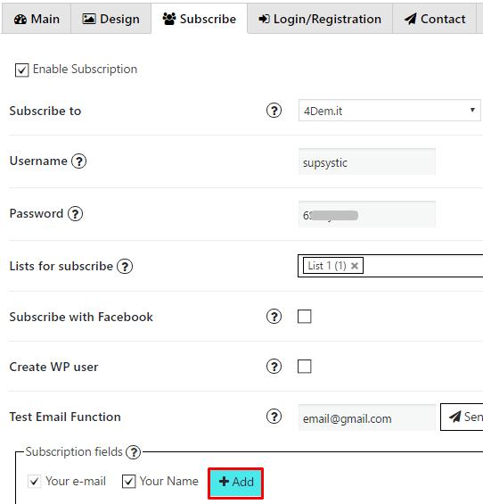 Add custom field button 4dem.it