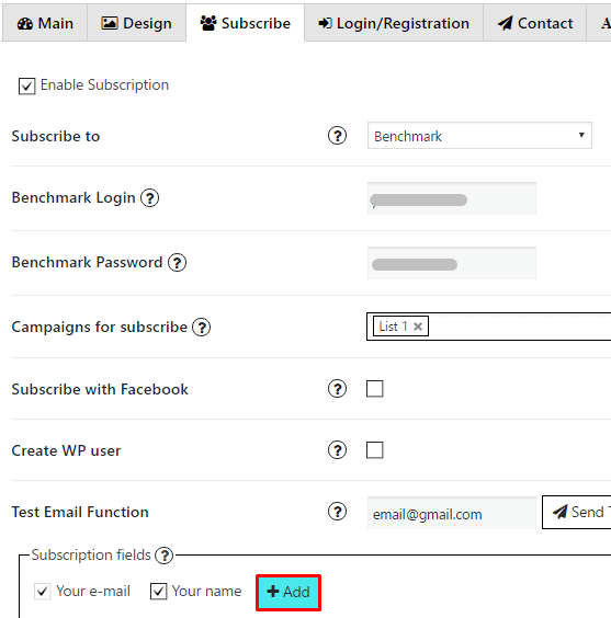 Add new field Benchmark