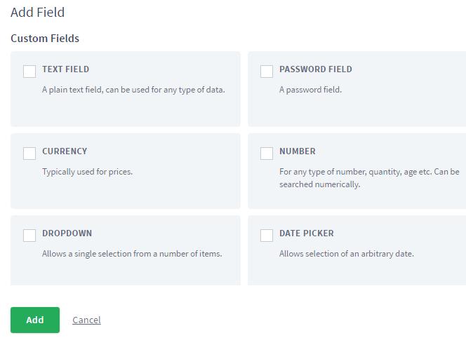 Custom Field type