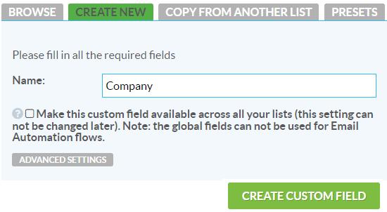 New custom field 4dem.it