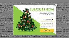 Christmas Tree Popup