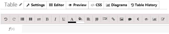 WordPress Data Table Toolbar