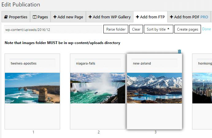 Digital Publications Parse Folder