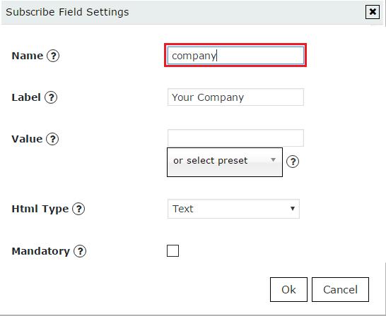 SendGrid insert field name