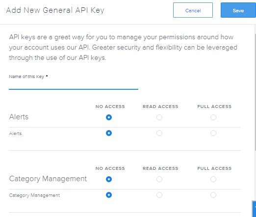SendGrid create new API Key