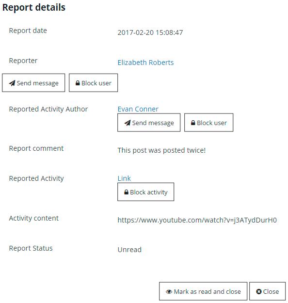 Membership Content Report Details