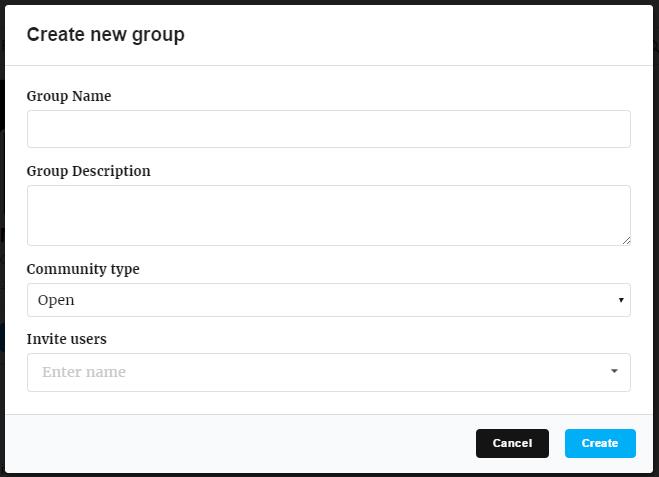 create new membership group