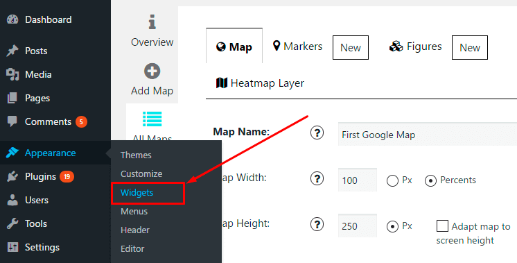 Google Map Appearance Widget