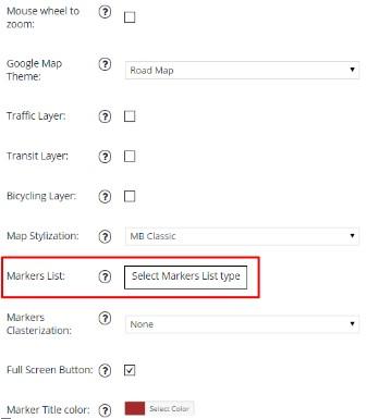 Marker List feature