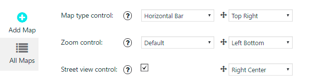 Map Tab Control Settings