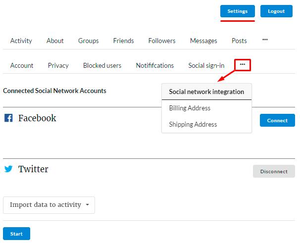 Membership Social Network Integrations